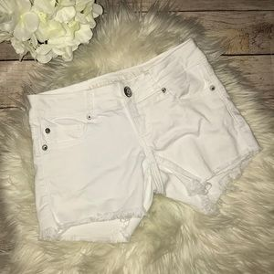 AE American Eagle Super Low Shortie Denim Shorts -
